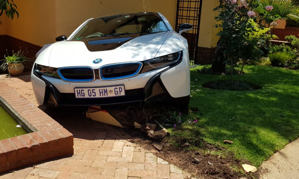 Housekeeper Crashes R2 3m Bmw I8 While Family Away On Holiday
